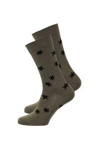 Unisex Socken #STARS olive grün - recolution