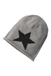 Strickmütze Beanie #STAR grau - recolution