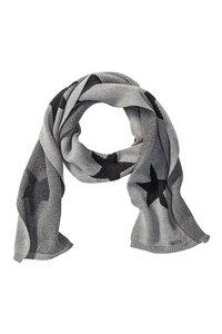 Strickschal #Stars Scarf grau - recolution