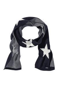 Strickschal #Stars Scarf navy blau - recolution