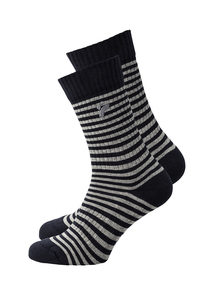 Unisex Socken navy gestreift - recolution