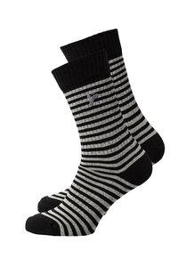 Unisex Socken schwarz grau gestreift  - recolution