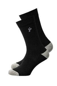 Unisex Socken Uni schwarz - recolution