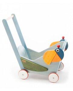 Puppenwagen Papagei Frederic nachhaltig tédé - tède