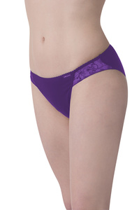 Fairtrade Tanga, dark violet - comazo|earth
