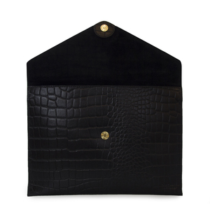 Envelope Laptop Sleeve 13' Eco Classic Black Croco - O MY BAG