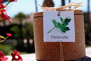Grow Kork Petersilie Kräuter im Kroktopf  - Life in a bag