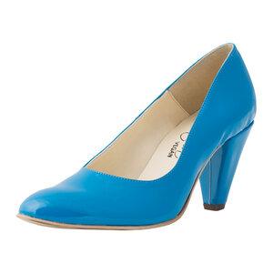Dorothy Light Blue Patent Dekollete - Bella Storia