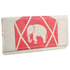 Portemonnaie Chenda einfach gefaltet aus Zement-/ Fischfutter-/ Reissack - Upcycling Deluxe