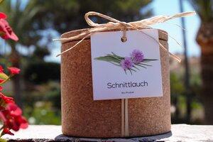 Grow Kork Schnittlauch im Korktopf  - Life in a bag