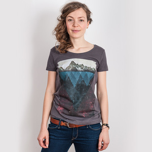 Kopfstein – Feuer - Ladies Low Carbon Organic Cotton T-Shirt - Nikkifaktur
