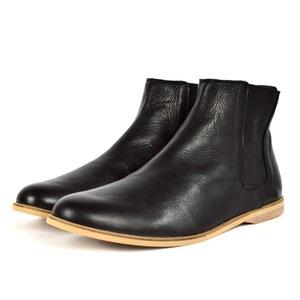 '88 Leder Chelsea Boots in Schwarz - SORBAS