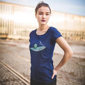 Robert Richter – Save the Planet Whale - Ladies Organic Cotton T-Shirt - Nikkifaktur