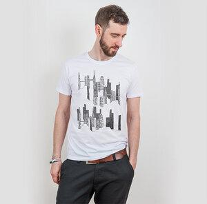 Keregan* – Another City - Mens Low Carbon Organic Cotton T-Shirt - Nikkifaktur
