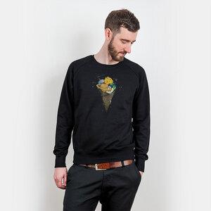 Robert Richter – Galactic Ice Cream - Organic Cotton Sweatshirt - Nikkifaktur