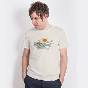 Robert Richter – Hobby Pilote - Mens Low Carbon Organic Cotton T-Shirt - Nikkifaktur