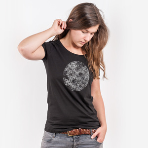 Dark Side of the Moon 2 - Ladies Low Carbon Organic Cotton T-Shirt - Nikkifaktur
