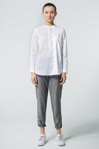 Bluse Oversized Pocket // Weiß - WIEDERBELEBT