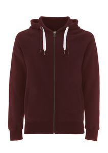 Men Zip-Up Hoody - clared red - Continental Clothing