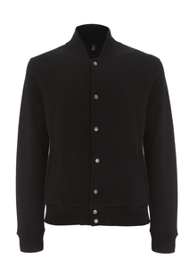 Varsity Jacket - Plain Black - Continental Clothing