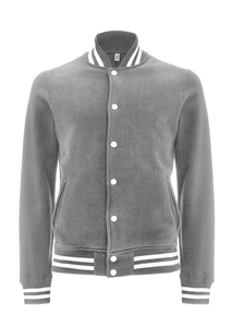 Varsity Jacket - Melange Grey/White - Continental Clothing