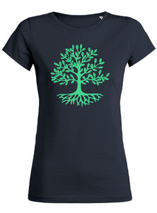yoga108 Charity Tree-Shirt - navy - yoga108