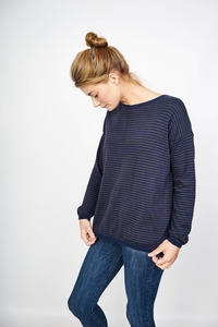 Brooke Fine Wool Striped Jumper - bibico