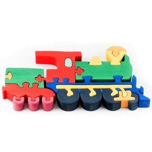 Puzzle Lokomotive bunt nachhaltig Fauna - Fauna