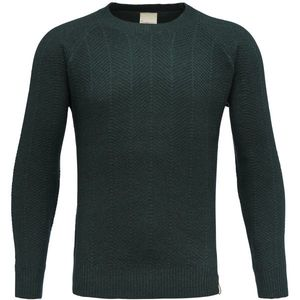 Zig Zag Round Neck Knit - Green Gables - KnowledgeCotton Apparel