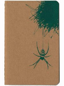 'Die Spinne und ihr Netz' Heft ca. DIN A6 - shop handgedruckt