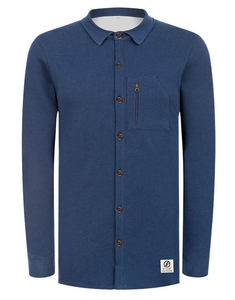 Denim Jersey Hemd Jeansblau - bleed