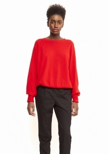 Cici Lambswool Sweater - Cherry Red - Maska