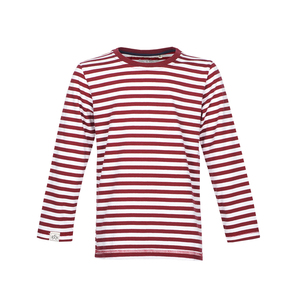 Stripe Longsleeve (Brick Red - Off White) - Band of Rascals