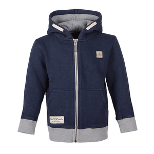 Slub Zip Hooded (Navy) - Band of Rascals