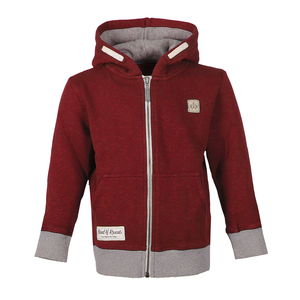 Slub Zip Hooded (Brick Red) - Band of Rascals