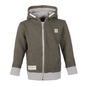 Slub Zip Hooded (Olive) - Band of Rascals