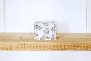 Schmuckschachtel mit 100% Biobaumwolle, 'Butterfly White' - Biostoffe Berlin by Julie Cocon