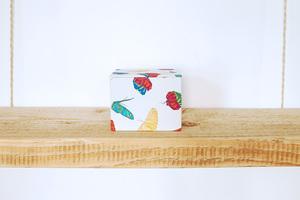 Schmuckschachtel mit 100% Biobaumwolle, 'Butterfly Color' - Biostoffe Berlin by Julie Cocon
