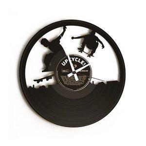 Wanduhr - 'SK8' -  Vinyl -  aus Schallplatte - DISC'O'CLOCK