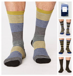 GIFT BOX SPOT AND STRIPE SOCKS  - Thought | Braintree