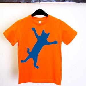 'Klammerkatze' T-Shirt Fair & Organic - shop handgedruckt
