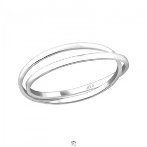 Doppel-Ring aus 925er Sterling Silber - LUXAA