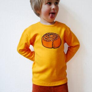 Kinder Longsleeve Zimtschnecke gelb - Cmig