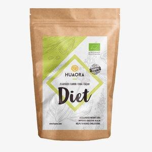 Huaora Diet - Flachs, Johannisbrot, Kakao, Chia Samen, Kokosnusszucker - Huaora