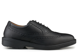 Classic Walker Brogue Black - Eco Vegan Shoes
