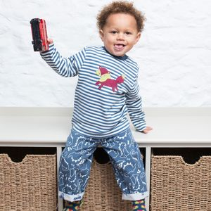 KITE Pullover blau geringelt Fuchs - Kite Kids