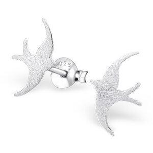 Filigraner Ohrstecker Vogel aus 925er Sterling Silber - LUXAA
