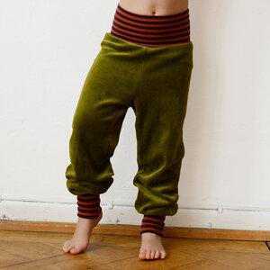 Kinder Nicki Hose grün/rost-braun - Cmig