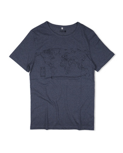 Shirt World Mapper grau - Degree Clothing