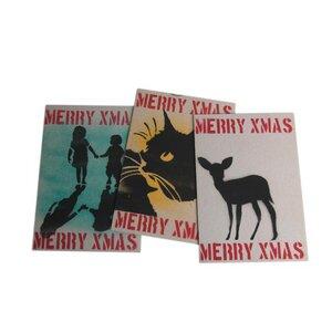 Weihnachtskarte 'Merry Xmas' - aus Recycling-Papier - Deafmessanger